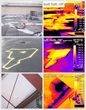 Infrared Roof Moisture Detection